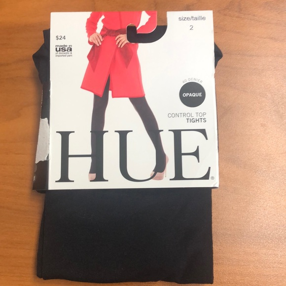 """HUE Accessories - NWT """"HUE"""" TIGHTS - size 2. Black Opaque"""